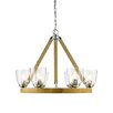Golden Lighting Harland 6 Light Candle Chandelier