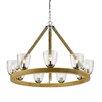 Golden Lighting Harland 9 Light Candle Chandelier
