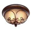 Golden Lighting Loretto 2 Lights Flush Mount