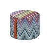 Missoni Home Kew Patchwork Cylindrical Pouf Ottoman