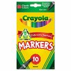 Crayola LLC Non-Washable Markers, Fine Point, Classic Colors, 10/Set (Set of 2)