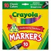 Crayola LLC Non Washable Markers (10 Pack) (Set of 2)