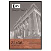 DAX® Flat Face Wood Poster Frame with clear plastic window, 24 x 36, Black