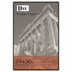 DAX® Coloredge Poster Frame with clear plastic window, 24 x 36, Clear Face/Black Border