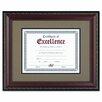 """DAX® World Class Document Frame w/Certificate, Walnut, 11 x 14"""""""