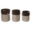 Badger Basket 3 Piece Nesting Round Basket & Hamper Set