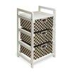 Badger Basket BWhite Three Drawer Hamper and Storage Unit
