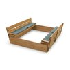 Badger Basket Deluxe Convertible Cedar 4' ft. Square Sandbox with Cover