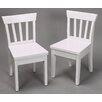 Gift Mark Ladderback Kids Desk Chair (Set of 2)