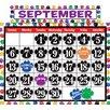 Teacher Created Resources Colorful Paw Prints Calendar Bb Calendar Set