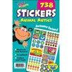 "Trend Enterprises Sticker Pad, ""Animal Antics"", 5-3/4""x9-1/2"", 738 Stickers"