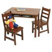 Lipper International Kids 3 Piece Table & Chair Set