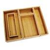 Lipper International Bamboo 5 Piece Organization Box Set