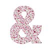 Cici Art Factory Lotsa Alphabet Art Birdies Ampersand Paper Print