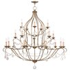 Livex Lighting Chesterfield 18 Light Candle Chandelier