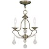 Livex Lighting Chesterfield 3 Light Mini Chandelier