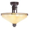 "Livex Lighting Matrix 3 Light 15.5"" Semi Flush Mount"