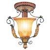 Livex Lighting Villa Verona 1 Light Semi Flush Mount