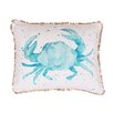 Thro by Marlo Lorenz Coastal Carmello Crab Splatter Throw Pillow