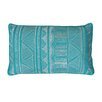 Thro by Marlo Lorenz Tracey Embroidered Tribal Sketch Lumbar Pillow