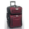 "Traveler's Choice Amsterdam 21"" Expandable Rolling Carry - On in Burgundy"