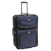 "Traveler's Choice Amsterdam 25"" Two Tone Expandable Rolling Suitcase"