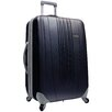 "Traveler's Choice Toronto 21"" Expandable Hardside Spinner Suitcase in Black"