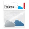 Kikkerland 2 Eraser Clouds (Set of 8)