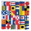 Kikkerland Nautical Flag Shower Curtain