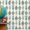 Aimee Wilder Designs Analog 1' x 8'' Robots Wallpaper (Set of 2)