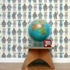 "Aimee Wilder Designs Analog 15' x 27"" Robots Wallpaper (Set of 2)"