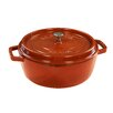 Staub Cast Iron Shallow Wide Round Cocotte with Lid