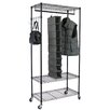 Oceanstar Design Garment Rack with Adjustable Shelves & Hooks