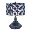 """Dimond Lighting Textured 20.5"""" H Table Lamp with Drum Shade"""