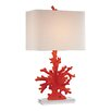 "Dimond Lighting Coral 28"" H Table Lamp with Square Shade"