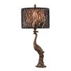 """Dimond Lighting Peacock 27"""" H Table Lamp with Drum Shade"""