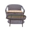 Oakland Living Elite Resin Wicker 2 Piece Seating Group with Cushion