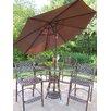 Oakland Living Hummingbird Mississippi 6 Piece Bar Set with Umbrella