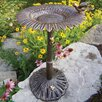 Sunflower Birdbath - Color: Antique Bronze - Oakland Living Bird Baths