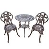 Oakland Living Palm Tree 3 Piece Bistro Set