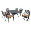 Oakland Living Hampton 7 Piece Dining Set with Cushions