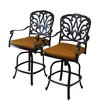 Oakland Living Hampton Bar Stool with Cushion (Set of 2)