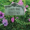 Let's Get Growing Garden Sign - Color: Antique Bronze - Oakland Living Garden Statues and Outdoor Accents