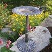 Sunflower Birdbath - Color: Antique Pewter - Oakland Living Bird Baths