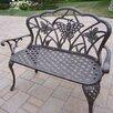Oakland Living Butterfly Aluminum Garden Bench