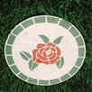 Mosaic Rose Stepping Stone - Oakland Living Garden Statues and Outdoor Accents