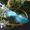 Napa Home and Garden Trousseau 2 Piece Vintage Glitter Bird Ornament Set (Set of 6)