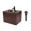"Premier Copper Products 25"" Single Hand Hammered Copper Wall Mount Bathroom Vanity Set"