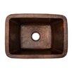 "Premier Copper Products 17"" x 12"" Rectangle Copper Bar Sink"