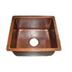 "Premier Copper Products 16"" x 14"" Gourmet Rectangular Hammered Bar Sink"
